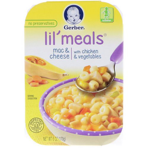 Gerber, Lil' Meals, Mac & Cheese, With Chicken & Vegetables, Toddler, 6 oz (170 g) Review