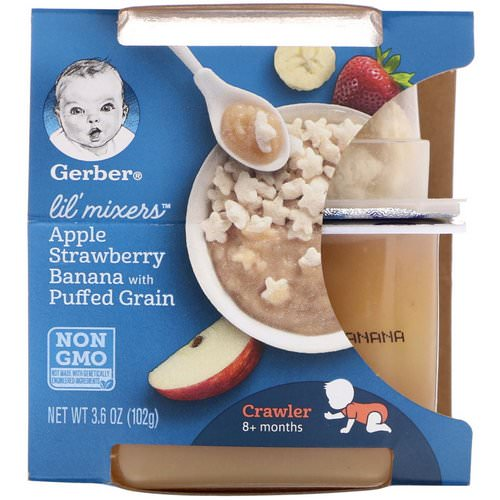 Gerber, Lil Mixers, 8+ months, Apple Strawberry Banana With Puffed Grain, 3.6 oz (102 g) Review