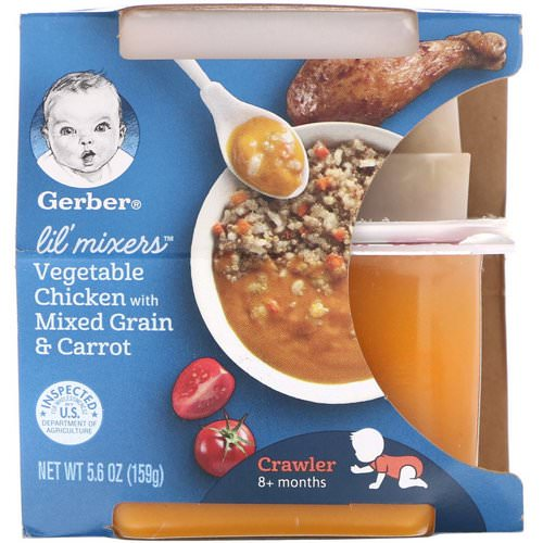 Gerber, Lil' Mixers, 8+ months, Vegetable Chicken With Mixed Grain & Carrot, 5.6 oz (159 g) Review