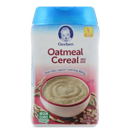 Gerber, Oatmeal Cereal, Single Grain, 8 oz (227 g) Review
