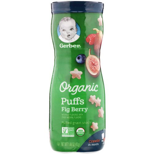 Gerber, Organic Puffs, Fig Berry, 1.48 oz (42 g) Review