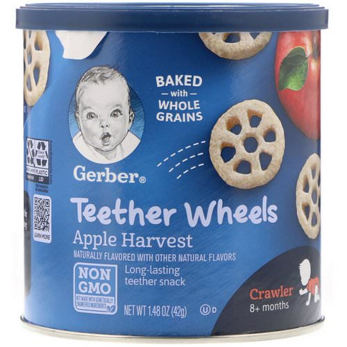 Gerber, Teether Wheels, Crawler, 8+Months, Apple Harvest, 1.48 oz (42 g) Review