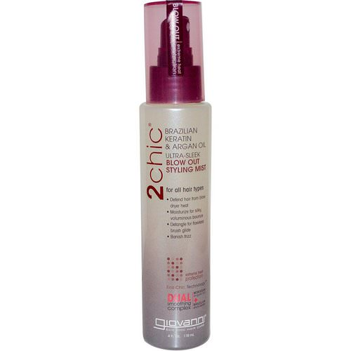 Giovanni, 2chic, Blow Out Styling Mist, Brazilian Keratin & Argan Oil, 4 fl oz (118 ml) Review