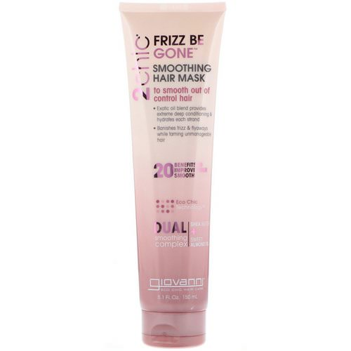 Giovanni, 2chic, Frizz Be Gone, Smoothing Hair Mask, Shea Butter + Sweet Almond Oil, 5.1 fl oz (150 ml) Review