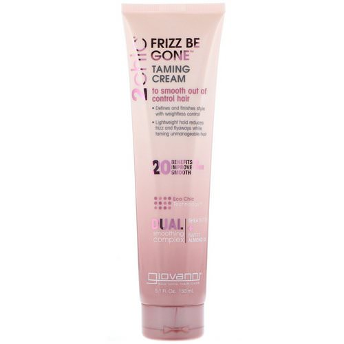 Giovanni, 2chic, Frizz Be Gone Taming Cream, Shea Butter & Sweet Almond Oil, 5.1 fl oz (150 ml) Review