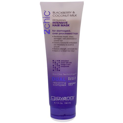 Giovanni, 2chic, Repairing, Intensive Hair Mask, Blackberry & Coconut Milk, 5.1 fl oz (150 ml) Review