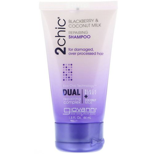 Giovanni, 2chic, Repairing Shampoo, for Damaged, Over Processed Hair, Blackberry & Coconut Milk, 1.5 fl oz (44 ml) Review