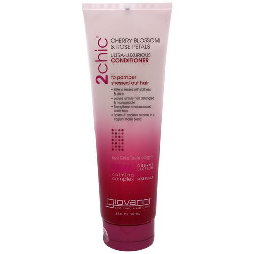 Giovanni, 2chic, Ultra-Luxurious Conditioner, to Pamper Stressed Out Hair, Cherry Blossom & Rose Petals, 8.5 fl oz (250 ml) Review