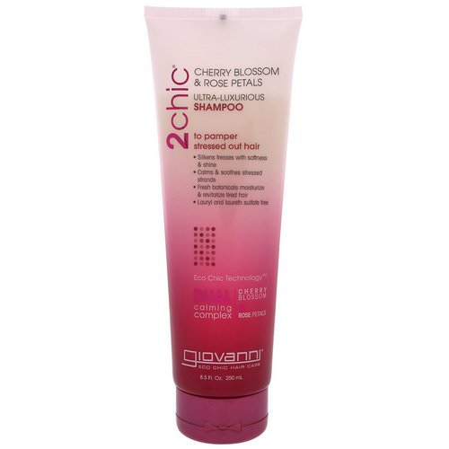 Giovanni, 2chic, Ultra-Luxurious Shampoo, to Pamper Stressed Out Hair, Cherry Blossom & Rose Petals, 8.5 fl oz (250 ml) Review