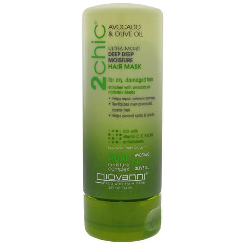 Giovanni, 2chic, Ultra-Moist, Deep Deep Moisture Hair Mask, Avocado & Olive Oil, 5 fl oz (147 ml) Review