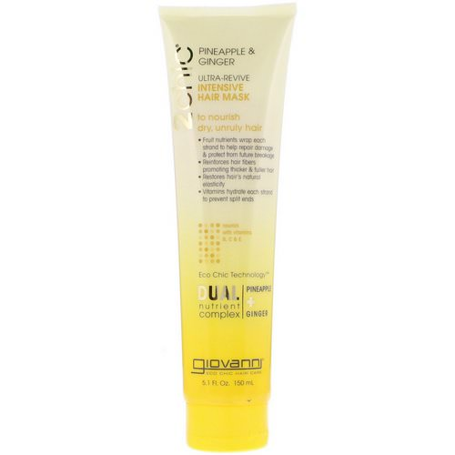 Giovanni, 2chic, Ultra-Revive, Intensive Hair Mask, Pineapple & Ginger, 5.1 fl oz (150 ml) Review