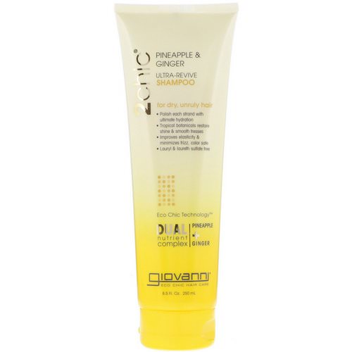 Giovanni, 2chic, Ultra-Revive Shampoo, for Dry, Unruly Hair, Pineapple & Ginger, 8.5 fl oz (250 ml) Review