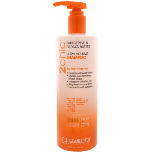 Giovanni, 2chic, Ultra-Volume Shampoo, for Fine Limp Hair, Tangerine & Papaya Butter, 24 fl oz (710 ml) Review