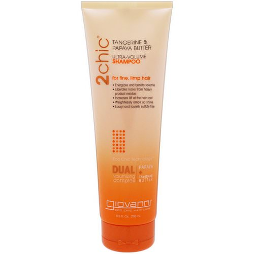 Giovanni, 2chic, Ultra-Volume Shampoo, for Fine Limp Hair, Tangerine & Papaya Butter, 8.5 fl oz (250 ml) Review