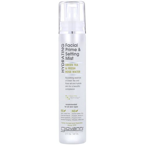 Giovanni, Hydrating Facial Prime & Setting Mist, Green Tea & Fresh Rose Water, 5 fl oz (147 ml) Review