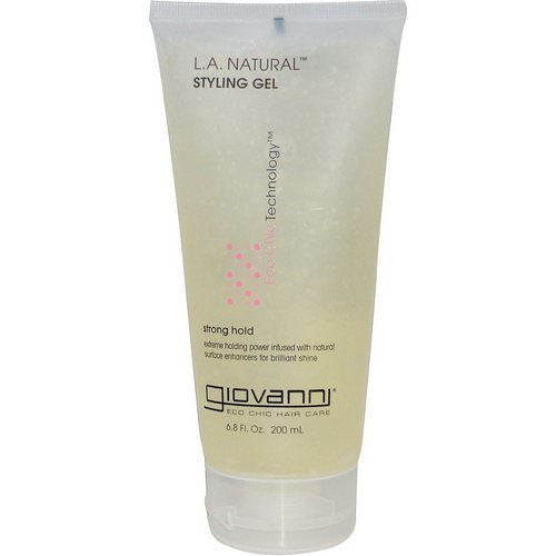 Giovanni, L.A. Natural, Styling Gel, Strong Hold, 6.8 fl oz (200 ml) Review