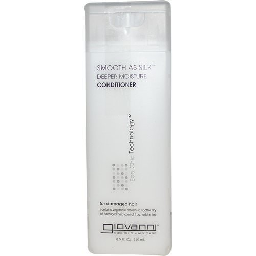 Giovanni, Smooth As Silk, Deeper Moisture Conditioner, 8.5 fl oz (250 ml) Review