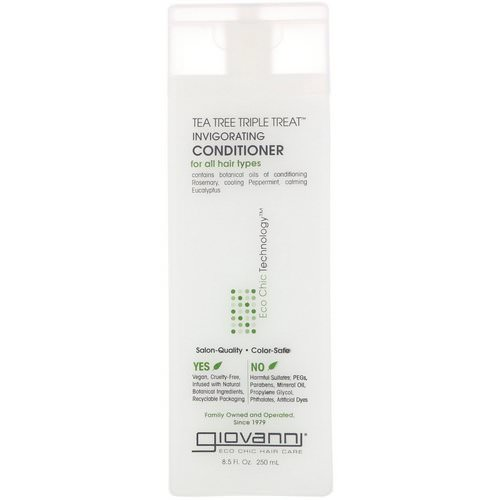 Giovanni, Tea Tree Triple Treat Invigorating Conditioner, 8.5 fl oz (250 ml) Review
