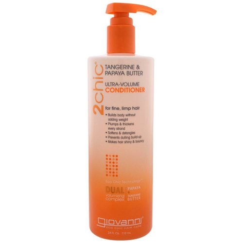 Giovanni, Ultra-Volume Conditioner, for Fine Limp Hair, Tangerine & Papaya Butter, 24 fl oz (710 ml) Review