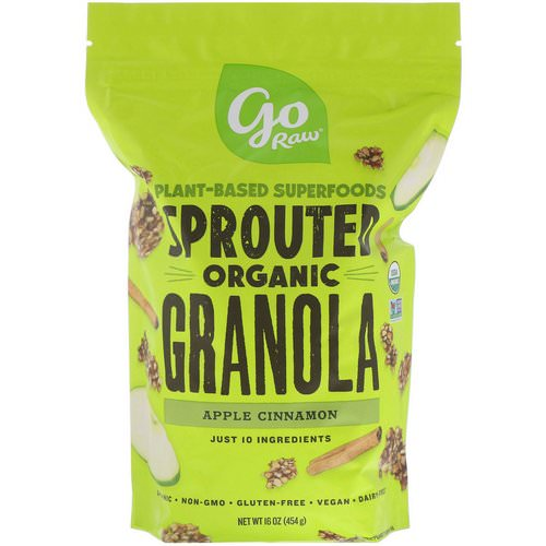 Go Raw, Organic Sprouted Granola, Apple Cinnamon, 16 oz (454 g) Review