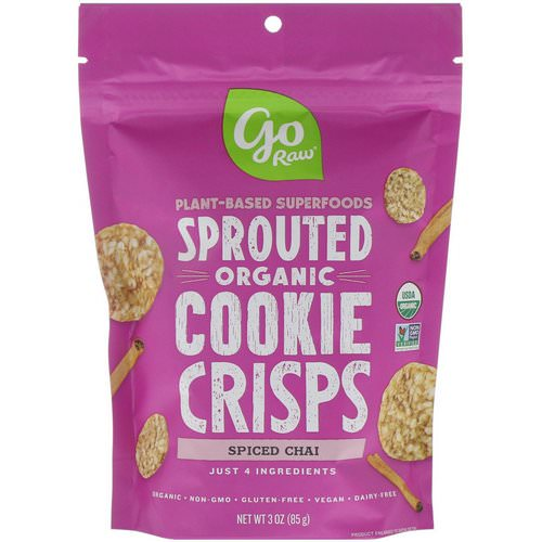 Go Raw, Organic, Sprouted Cookie Crisps, Spiced Chai, 3 oz (85 g) Review