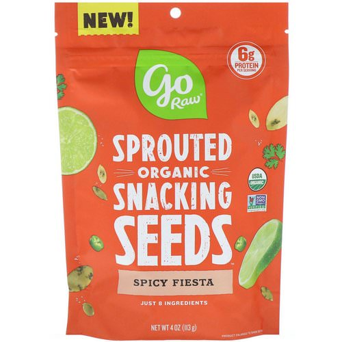 Go Raw, Organic, Sprouted Snacking Seeds, Spicy Fiesta, 4 oz (113 g) Review