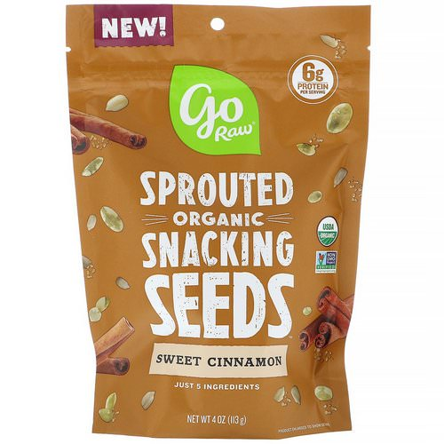 Go Raw, Organic, Sprouted Snacking Seeds, Sweet Cinnamon, 4 oz (113 g) Review