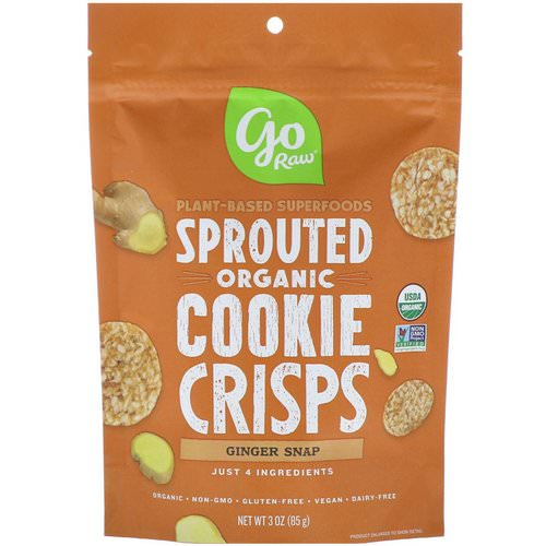 Go Raw, Organic, Sprouted Super Cookies, Ginger Snaps, 3 oz (85 g) Review