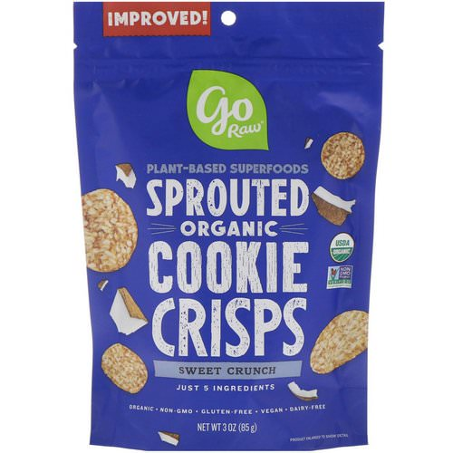 Go Raw, Organic, Sprouted Cookie Crisps, Sweet Crunch, 3 oz (85 g) Review