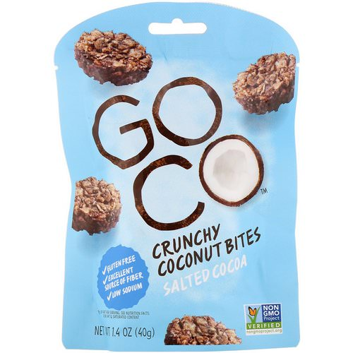 GoCo, Crunchy Coconut Bites, Salted Cocoa, 1.4 oz (40 g) Review