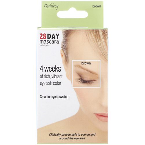 Godefroy, 28 Day Mascara, Eyelash Gel Tint Kit, Brown, 25 Application Kit Review