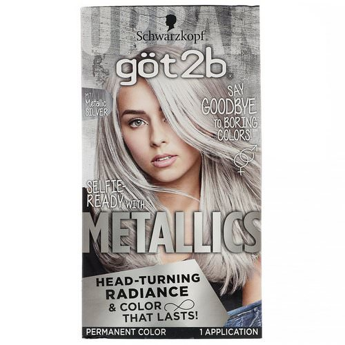 got2b, Metallics, Permanent Hair Color, M71 Metallic Silver, 1 Application Review