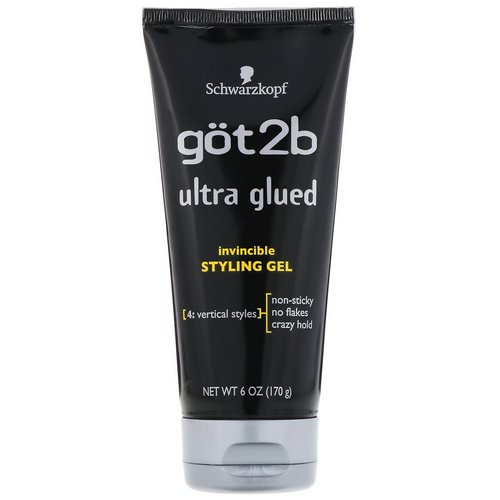 got2b, Ultra Glued Invincible Styling Gel, 6 oz (170 g) Review