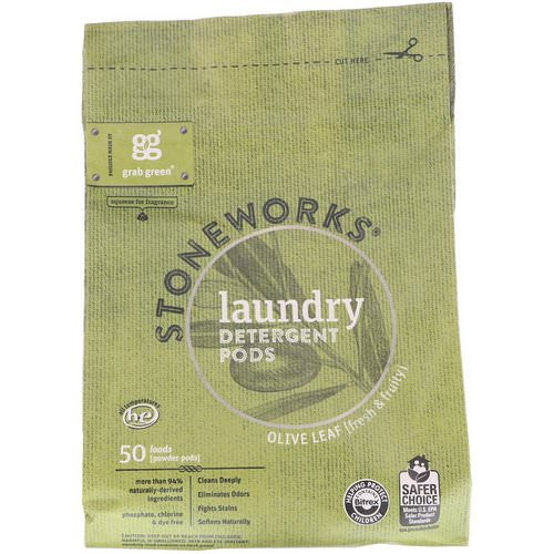 Grab Green, Stoneworks, Laundry Detergent Pods, Olive Leaf, 50 Loads, 1.65 lbs (750 g) Review