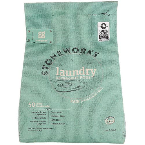 Grab Green, Stoneworks, Laundry Detergent Pods, Rain, 50 Loads, 1.65 lbs (750 g) Review