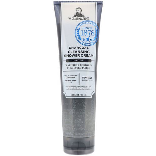 Grandpa's, Charcoal Cleansing Shower Cream, Detoxify, 9.5 fl oz (280 ml) Review
