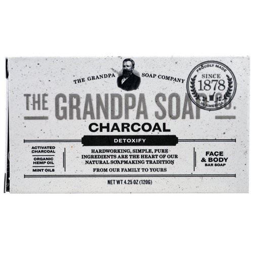 Grandpa's, Face & Body Bar Soap, Detoxify, Charcoal, 4.25 oz (120 g) Review