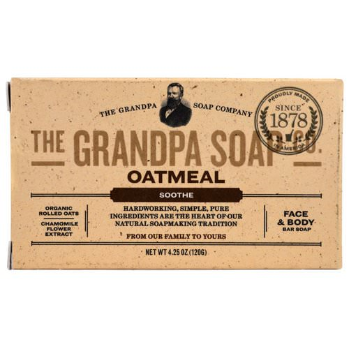 Grandpa's, Face & Body Bar Soap, Soothe, Oatmeal, 4.25 oz (120 g) Review