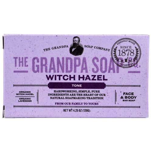 Grandpa's, Face & Body Bar Soap, Tone, Witch Hazel, 4.25 oz (120 g) Review