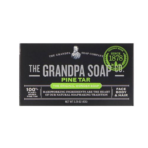 Grandpa's, Face Body & Hair Bar Soap, Pine Tar, 3.25 oz (92 g) Review