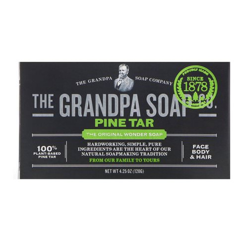 Grandpa's, Face Body & Hair Bar Soap, Pine Tar, 4.25 oz (120 g) Review