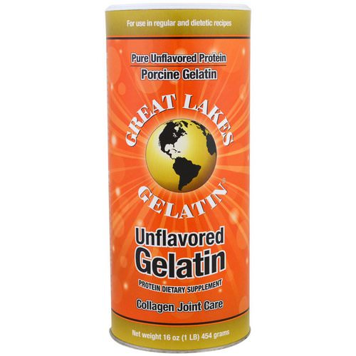 Great Lakes Gelatin Co, Porcine Gelatin, Collagen Joint Care, Unflavored, 16 oz (454 g) Review