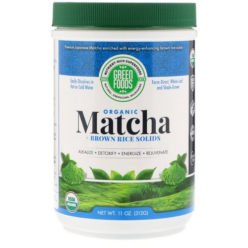 Green Foods, Ceremonial Grade Matcha Green Tea Energy Blend, 11 oz (312 g) Review