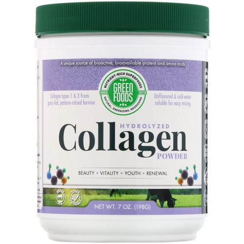 Green Foods, Hydrolyzed Collagen Powder, 7 oz (198 g) Review