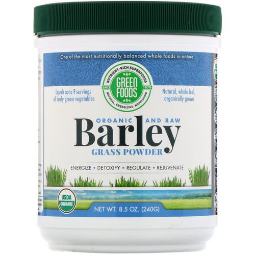 Green Foods, Organic and Raw, Barley Grass Powder, 8.5 oz (240 g) Review