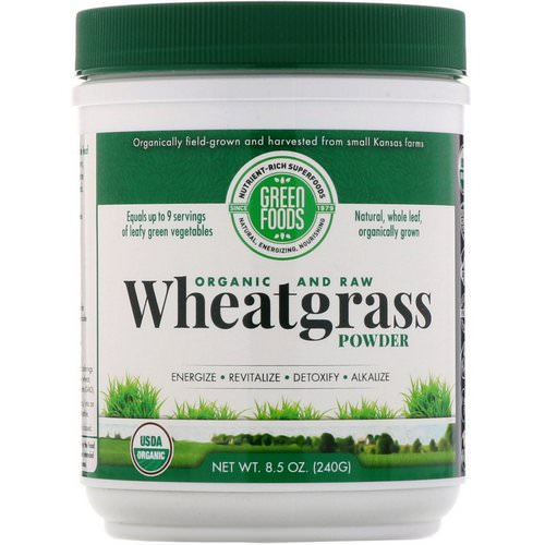 Green Foods, Organic and Raw, Wheatgrass Powder, 8.5 oz (240 g) Review