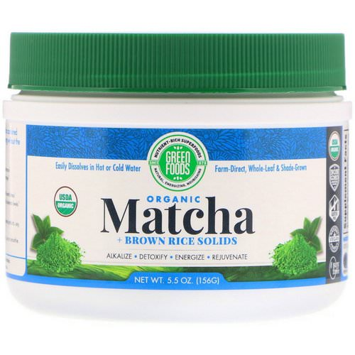 Green Foods, Organic Matcha + Brown Rice Solids, 5.5 oz (156 g) Review