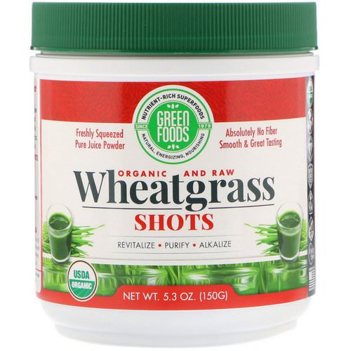 Green Foods, Organic & Raw, Wheatgrass Shots, 5.3 oz (150 g) Review