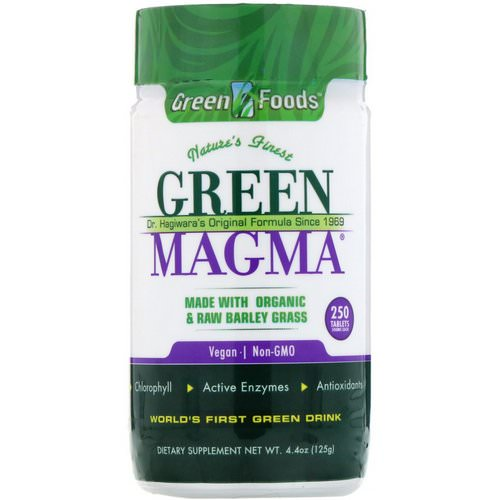Green Foods, Green Magma, 500 mg, 250 Tablets Review