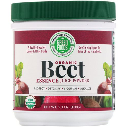 Green Foods, Organic Beet Essence Juice Powder, 5.3 oz (150 g) Review